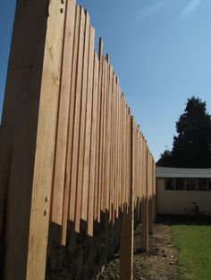 Sweet Chestnut posts and UK grown Western Red Cedar privacy screen