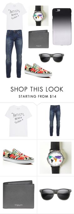 Pop of color by juliana-novakovic on Polyvore featuring Scotch & Soda, Vans, Michael Kors, C6, men's fashion and menswear