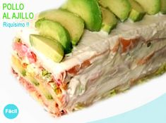 pastel de verano con pan de molde Tortilla Rolls, Summer Cakes, Canapes, Fresh Rolls, Pan Pastel, Cake Unicornio, Cabbage, Food And Drink, Appetizers