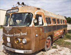 Abandoned band tour bus