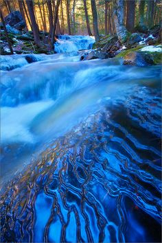 Layers of Blue Amethyst Brook, Massachusetts, United States.