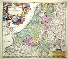 Antieke landkaart Nederland