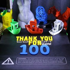 A big thank you to all 100 of you!  #3d #3dprinter #3dprinted #3dprinting #wanhao #duplicator #i3 #di3 #di3v2 #cocooncreate #filament #pla #pikachu #squirtle #charizard #pokemon #bust #female #torso #curvey #canon #dslr #6d #led #lighting #model #stl #thankyou #100 by hozy3d