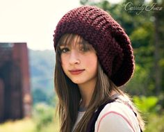 Hand Knit Hat Womens Hat  The Slouch Hat in Oxblood por pixiebell, $70.00