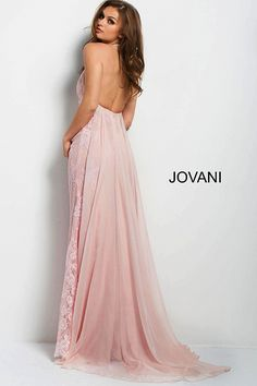 dfdf4e124ab3 Pink Fitted Embroidered Halter Neck Dress  45727  Jovani  Fall2017 Grad  Dresses