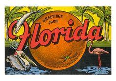 vintage Florida poster! so cool :)