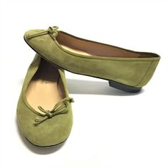 Flats Napa Valley Womens M Ballet Flats Suede Leather Green Ballerinas, Ballerina Pumps, Ballet Flats, Napa Leather, Suede Leather, Napa Valley, Bow Flats, Shoes Uk, Loafers