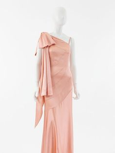 1930s evening dress   Evening Dress, House of Chanel, 1930s, French, silk   design