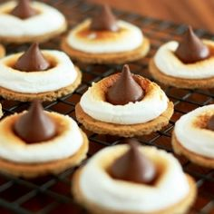 S'mores Bites - two ways: Kiss or Rolo. Dessert in 5 minutes or less!