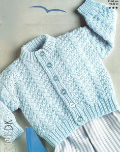 baby cardigan vintage knitting pattern 16 - 22 inch chest size double knitting wool PDF Instant downloa d Double Knitting Patterns, Baby Cardigan Knitting Pattern Free, Baby Sweater Patterns, Knitted Baby Cardigan, Knit Baby Sweaters, Baby Patterns, Free Knitting, Baby Jumper, Knitting Wool