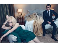 Sexy everything. Nicole Kidman and Clive Owen for W Magazine. Love the moody and sophisticated hues in this very simple bedroom. Textures are gorgeous and simple.