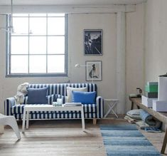 Blue And White Striped Couch. This wonderful image selections about Blue And White Striped Couch is accessible to save. Small Sectional Couch, Leather Couch Sectional, Couch With Chaise, Sofa Couch, Couch Set, Couch Furniture, Furniture Ads, Striped Couch, Faux Leather Couch