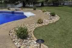 Love the curved look on this landscaping area!