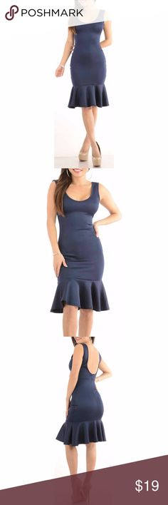 Sexy Dress with flounce hem tight cute cocktail Material is lightweight but thick. Model 5'6 is wearing a small & the exact same style. Close up shows fabric quality-Color dif is lighting. Brand new with tag! NWT Small=size 2,3,4  Medium= size 5,6,7  Large= size 8,9,10  Fabric designed w/stretch-Fit similar to styles @ Hello Molly, ASOS, Showpo ,Hot Miami Styles, Sabo Skirt , NBD, Lulus ,Tobi, Touch Dolls, Fashion Nova, Forever 21, Nasty Gal d707  Visit my closet for more Styles! Sweet Sexy…