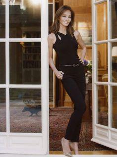 Isabel Preysler con un conjunto en negro