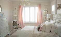 Pretty soft pink bedroom