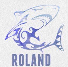 Roland and his dolphin>>>> ohmigod i get it hahaha