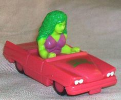 Cool Hardee's Restaurants/Marvel Super-Heroes SHE-HULK Convertible, '90, loose, but EXC.