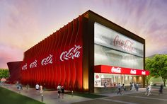 Coca-Cola Corporate Pavilion At Expo Milano 2015 - Picture gallery Coca Cola News, Coca Cola Store, Expo Milano 2015, Expo 2015, Display Design, Store Design, Shop Facade, Pavilion Design, Exhibition Booth Design