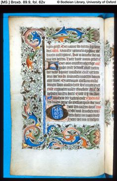 Illuminated Manuscript  [MS.] Broxb. 89.8 Book of Hours, in Dutch North Holland; 15th century, c. 1465-70 972×1,500 pixels