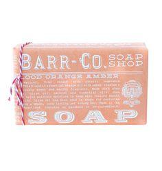 Barr-Co. Soap, Blood Orange Amber 98% Natural