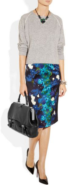 Michael Kors Littleton Frame | Michael Kors Littleton Textured Leather Tote in Black - Lyst