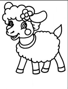 sheep coloring pages for preschool free printable colouring page