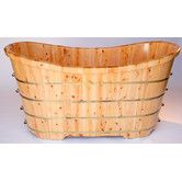 "Found it at Wayfair - 63"" x 28"" Free Standing Cedar Wood Slipper Tub"
