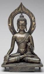 , Ladakh, buddha Ratnasambhava, brass+silver inlay, at Philadelphia Museum of Art Tibetan Art, Tibetan Buddhism, Buddhist Art, Nepal Art, Philadelphia Museum Of Art, Himalayan, Indian Art, Sculpture Art, Medieval