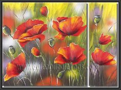 images of flower painting | Modern Oil Paintings on canvas flower painting -set09025