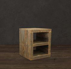 Reclaimed Wood Side Table/ Night Stand. $285.00, via Etsy. #LiquidGoldSalvagedWood
