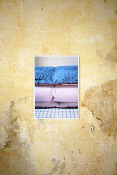 édredon cosy & édredon à carreaux  décor: mur de l'appartement  style: Lydia Rump & Myriam Balaÿ Devidal