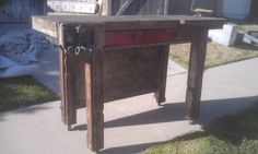 Vintage woodworking table, island, sideboard,desk