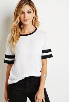 Varsity-Striped Tee | Forever 21 | #f21summercool