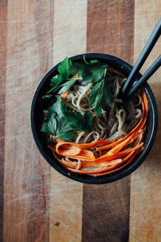 Spicy Peanut Soba Noodles with Veggies