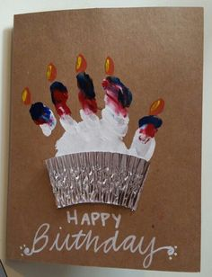 Handprint birthday card.