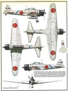"Mitsubishi A6M2 ""Zero-Sen"", early war version (1942-1943) with long wings and short cannon in wings."