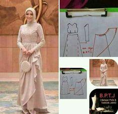 Dress Sewing Patterns, Blouse Patterns, Clothing Patterns, Dress Brokat Muslim, Muslim Dress, Dress Muslim Modern, Abaya Pattern, Hijab Fashion Inspiration, Batik Dress