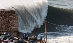 Huge surf at Nazare Portugal