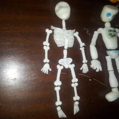 Check out this impressive work-in-progress pic of a skeleton marionette made out of Plastimake. Plastic Items, Making Out, Biodegradable Products, Skeleton, Sculpting, Sculptures, Diy Projects, Create, Check