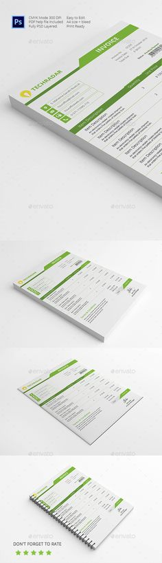 Invoice 2 Invoice design, Cleaning and Brochures - graphic design invoice template