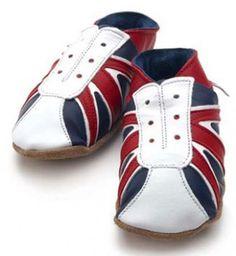 -50% sur ces petits chaussons bébé en cuir Very British ! Fabriqués par STARCHILD en Angleterre.