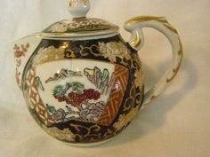 Japanese Teapot Imari Short Spout by GroovyGrannysAttic