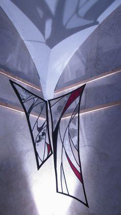 Stained glass, vitrail serti de fer forgé ©ChristellePothier http://www.christelle-pothier.fr/