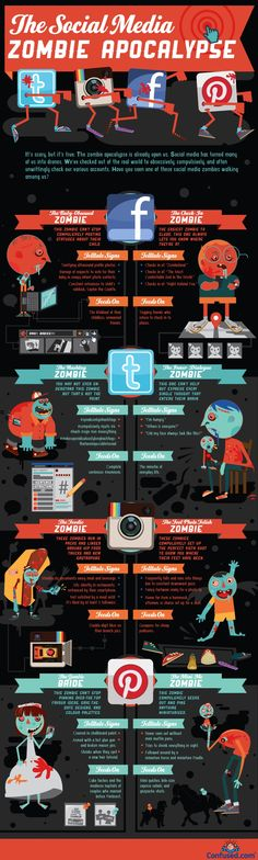 This fun infographic profiles several types of social media zombies -- not dead, but not quite alive either, thanks to an over-enthusiasm for the social web.