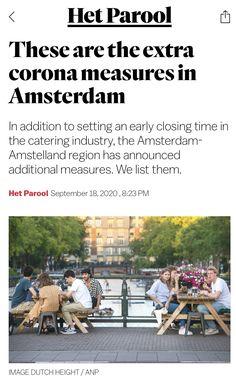 Amsterdam, September, News, Image, Corona