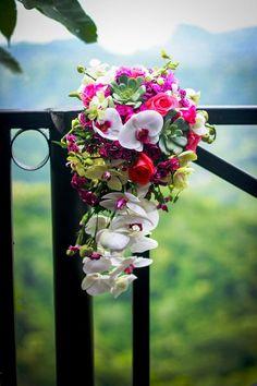 orchid cascading bouquet