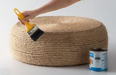ou are currently showing here the result of your DIY Tire Ottoman Furniture Tutorial Ideas. You can see here that How to make a Tire Ottoman Furniture with Rope Tire Ottoman, Diy Ottoman, Diy Outdoor Furniture, Furniture Projects, Diy Furniture, Farmhouse Furniture, Furniture Layout, Diy Projects, Modular Furniture