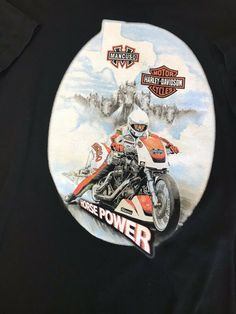2dc6dda3c91 Men s Medium T-Shirt Harley Davidson Mancuso Texas Horse Power Beefy   HarleyDavidson  GraphicTee
