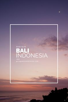 The perfect 5 day itinerary in Bali, Indonesia
